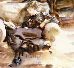 The Shilling Shocker. John Singer Sargent (1911-1912) Impressionism Painting Watercolour over pencil on paper