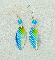 Sky Blue Fish Lure Earrings! #WM-SB by thefunkyfysh. Explore more products on http://thefunkyfysh.etsy.com
