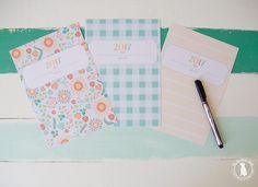 free planner 2017 - the handmade home. I LOVE these designs!