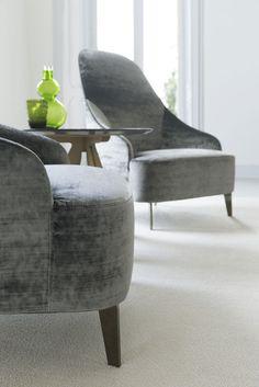 Vanessa velvet armchair made by BertO fine upholstery tailoring in Meda, Italy.