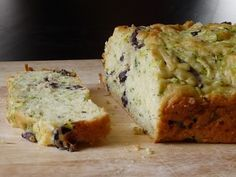 Zucchini and olive french breakfast cake