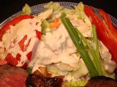 Shogun Japanese Salad Dressing make w homemade mayo Ginger Salad Dressings, Salad Dressing Recipes, Japanese Salad Dressings, Ginger Salad Dressing Japanese, Seared Salmon Recipes, Pan Seared Salmon, Steaks, Skirt Steak Recipes, Salads