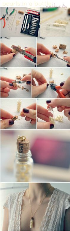 DIY: Pearls in a bottle would make a cute necklace or keychain necklacehttps://www.facebook.com/alexa.welte.3/posts/141482276044167