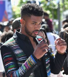 The 20 Best Moments From This Year's BET Awards — Including the Ones You May Have Missed Pictured: Trevor Jackson Fine Black Men, Handsome Black Men, Black Women, Fine Men, Black Men Haircuts, Black Men Hairstyles, Curly Hairstyles, Black Is Beautiful, Gorgeous Men