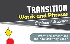 Transition Words and Phrases Explained & Listed (Infographic)