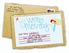 Moving Cards Templates. map address moving card templates by canva ...
