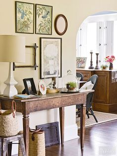 Think about the belongings in your home that you truly love. Could they be repurposed in another room? Can something be repainted? Do you have dishes that you adore that could be enjoyed daily if hung on your wall, instead of hidden away in a cabinet? How about a collection of favorite things that could make an impact en masse if displayed or hung? The end to your rut may be hiding in your closet.