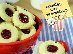 Receta:Estefanía Colombo/ Cookies con membrillo