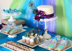 A Peacock Princess Party...perfect for a little girl's birthday, but the colors are so enchanting this could work for any event.