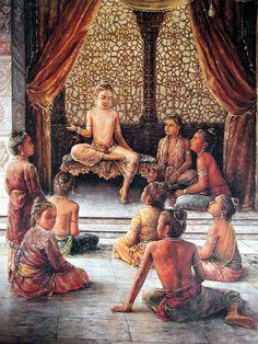 Dhruva prahlad. Dipinto di Prasanta.
