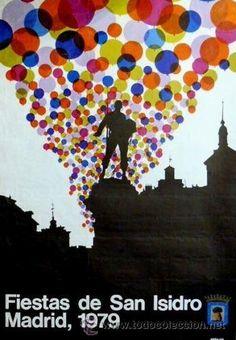 CARTEL FIESTAS SAN ISIDRO MADRID 1979. URBANO. 69x100cm (Papel - Carteles Gran Formato - Carteles Ferias, Fiestas y Festejos)