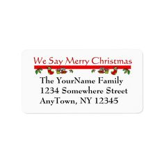 Shop Christmas Return Address Label created by krndel. Christmas Return Address Labels, Christmas Labels, Custom Address Labels, Business Supplies, How To Be Outgoing, Ads, Templates, Writing, Sayings