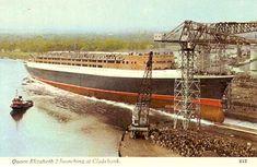 Cunard Line - Queen Elizabeth 2 - Page - Postcards - Original Condition Qe 2, Cunard Ships, Rms Queen Elizabeth, Navy Carriers, Falklands War, Merchant Navy, Beyond The Sea, Diesel Locomotive, Water Crafts