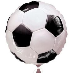 Decorate the party with everything soccer including the balloons. The Soccer-themed Foil Balloon is a great party decoration for soccer themed birthdays. Would also make a nice gift for a soccer coach