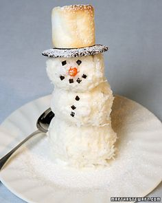 Simple Christmas Cookies kids can make Coconut Snowmen Dec 22