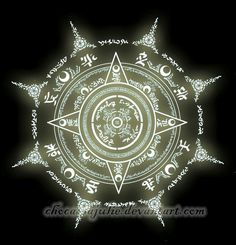 I decided to upload my fanmade magic circles. This is Artemis's magic circle. His magic is lunar-based and is shown through the various Moon symbols in his circle. His power is also enhanced by the. Roman Fantasy, Spell Circle, Chakra Symbole, Magic Circle Crochet, Magic Symbols, Demon Symbols, Viking Symbols, Egyptian Symbols, Viking Runes