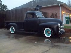 Matte chev 54 Chevy Truck, Chevy 3100, Chevy Pickups, Vintage Trucks, Old Trucks, Pickup Trucks, Classic Trucks, My Ride, Muscle Cars