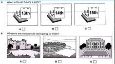 English B1.PET listening test 7.1 part 1 & answer key, transcript