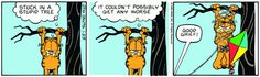 Read today's Garfield comic strip, or search for your favorite! Garfield And Odie, Garfield Comics, Classic Comics, Calvin And Hobbes, Peanuts, Comic Strips, Charlie Brown, Cartoons, Rest