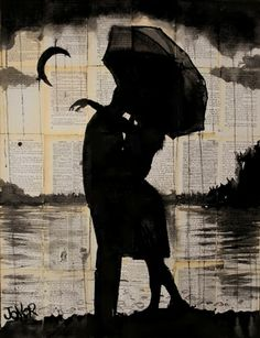 "Saatchi Online Artist Loui Jover; Drawing, ""night tryst"" #art"