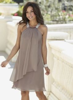 Satin Trapeze Dress- Satin Trapeze Dress Wow what a beautiful & elegant dress! Wear it to a night on the town, a wedding or on your next cruise vacation! Elegant Dresses, Pretty Dresses, Beautiful Dresses, Formal Dresses, Elegant Gown, Short Dresses, Mother Of Groom Dresses, Mothers Dresses, Summer Mother Of The Bride Dresses