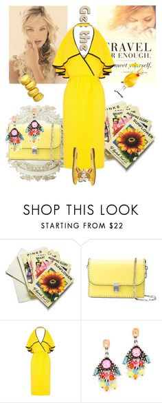 """Sunflower"" by rita257 ❤ liked on Polyvore featuring Beekman 1802, Valentino, Mollie Parnis, DANNIJO and Dolce&Gabbana"