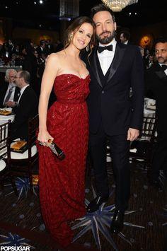 Stars Get Candid Inside the Golden Globes!: Jennifer Garner and Ben Affleck posed together at the Golden Globe Awards.