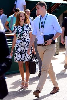Pretty as a petal: Andy Murray's wife Kim Sears was there to support her man on Friday...