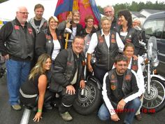 """Der Motorradclub """"The Salvation Riders"""" mit Heilsarmee-Angehörigen aus Norwegen"""