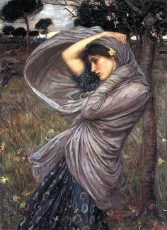 I recently just discovered the art of John Waterhouse and I really like it. There is passion in his work. Boreas  by John William Waterhouse