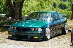 BMW E36 M3 green slammed