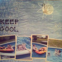 Scrapbook page keep cool