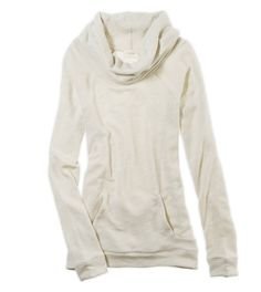 Monday mornings, we want to crawl back in to bed with this cozy cowl neck sweatshirt. #AeriePretty