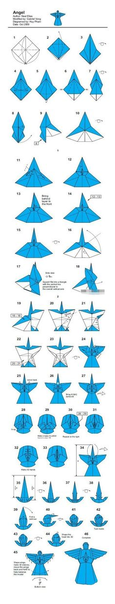 Little Angel origami tutorial manual diy - origami Daquan - beautiful line network - not simple and easy, more than 40 steps, we have to have a little patience