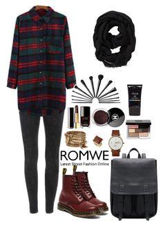 """Romwe 1"" by amra-f ❤ liked on Polyvore featuring moda, Dr. Martens, Triwa, ALDO, Dorothy Perkins, Chanel, Bobbi Brown Cosmetics, Old Navy, Stila y Fall"