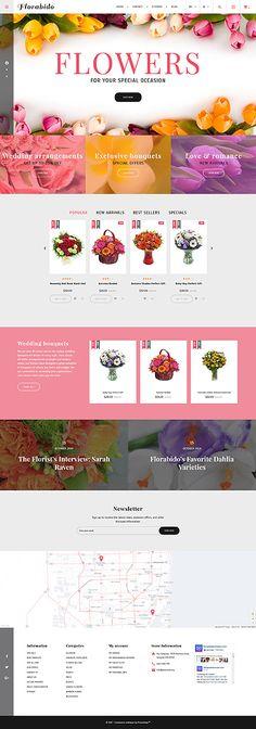 Template 62258 - Florabido Flower  Responsive PrestaShop  Theme
