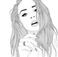 draw, drawing, fancy, girl, girls - image #3540542 by helena888 on ...