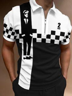 Punk, Tartan, Printed Polo Shirts, Going Out Tops, Plein Air, Golf Shirts, Types Of Sleeves, Gothic, Sportswear