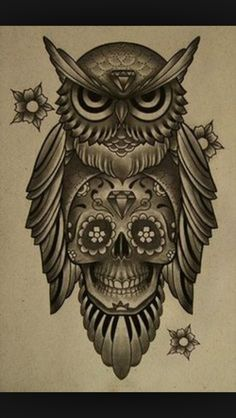 This is the final black and white version of my large owl chest tatoo. It makes me think of the Nite Owl from Watchmen. Owl Chest Tattoo I Skull Candy Tattoo, Candy Skulls, Owl Skull Tattoos, Mexican Skull Tattoos, Mexican Skulls, Body Art Tattoos, Tattoo Drawings, Sleeve Tattoos, Tatoos