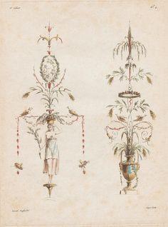Etienne de Lavallée-Poussin, 'Nouvelle Collection d'Arabesques, Propres à la Décoration des Appartemens', New collection of arabesques, suitable for decorating apartments, 1810.