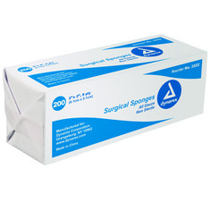 "Non-Sterile Bulk Gauze Sponges -   Quantity - Box of 200. Sizes: 2"" x 2"" - 8ply. 2"" x 2"" - 12ply. 3"" x 3"" - 8ply. 4"" x 4"" - 8ply. 4"" x 4"" - 12ply. 4"" x 4"" - 16ply. 4"" x 8"" - 12ply. Our absorbent gauze sponges are made from the highest quality materials and are designed to meet or exceed U.S.P. specifications for purity and absorbency. Sterile all-gauze sponges feature an easy to open peel back envelope for an aseptic presentation."