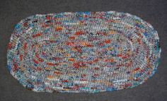 I have several free patterns for crocheting rugs using plastic bags or plarn at my blog. I have attached one oval rug pattern link.