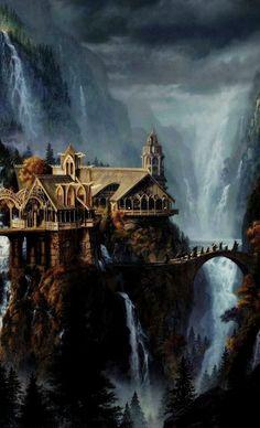 Lord of The Rings Concept Art Fantasy Magic, Fantasy World, Fantasy Art, Hobbit Art, O Hobbit, Legolas, Gandalf, Aragorn, Jrr Tolkien