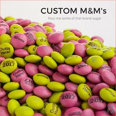 Customized logo M&M's make great corporate gifts and trade show giveaways. Show the sweet side of your brand.
