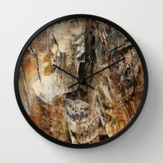 Buy Abstract texture earthcolored Wall Clock by Christine baessler. Worldwide shipping available at Society6.com. Just one of millions of high quality products available.