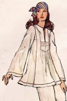 1970s sewing pattern illustration
