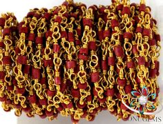 10 Feet Synthetic Maroon Turquoise 1.75X.5-2X2.25mm 24k Gold Plated Heishi Beads Hand Cut  Afghani Beads by SONUGEMS on Etsy
