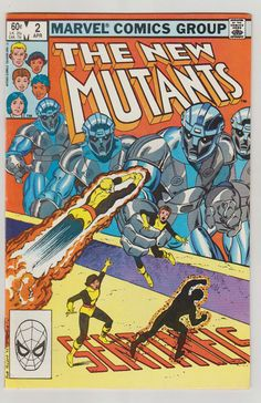 New Mutants Vol 1 2 Bronze Age Comic Book.  by RubbersuitStudios #newmutants #comicbooks