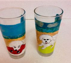 These two hand painted puppies love the beach. Clearly Susan hand paints any type of theme....come see! $28.00 https://www.clearlysusan.com/Animal-Pet-Lover-_c_162.html