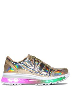 With these babies on your feet, there's no need for the flashlight app. Complete your rainbow look with our Holographic Skirt. Returns and Exchanges Policy Ship